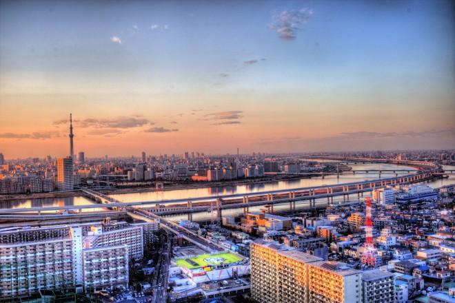 東京都内の夕焼け