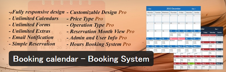 Booking calendar - Booking System