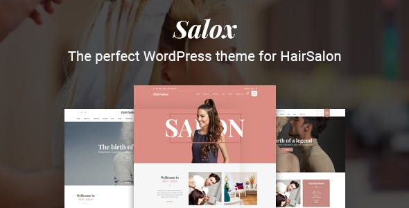 Salox | Hair Salon WordPress Theme
